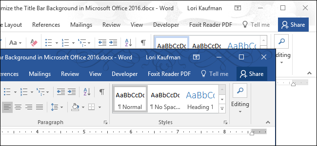 how to change document theme in word 2016