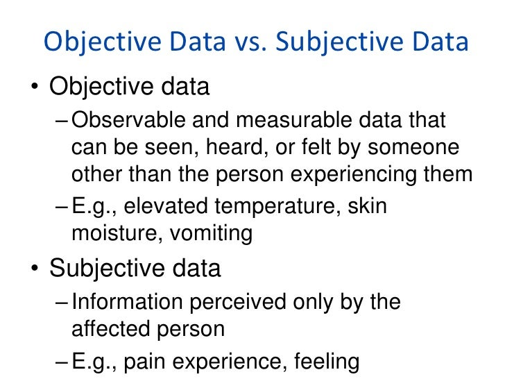 what is subjective documentation