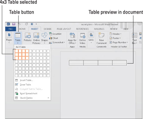 how to create columns in word document