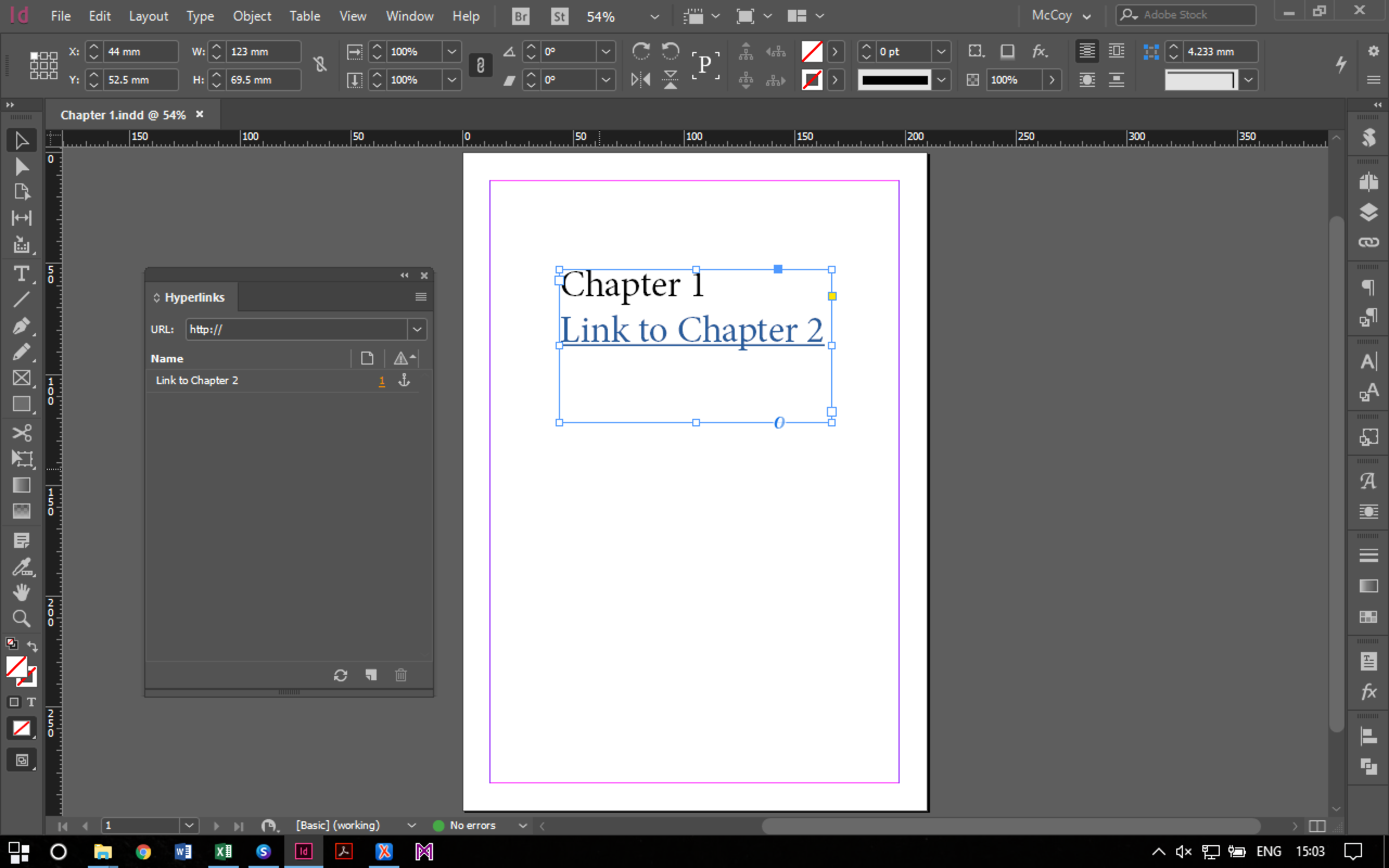 how to crop indesign document