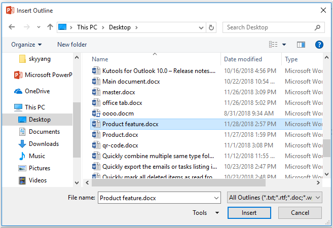 convert word document to powerpoint