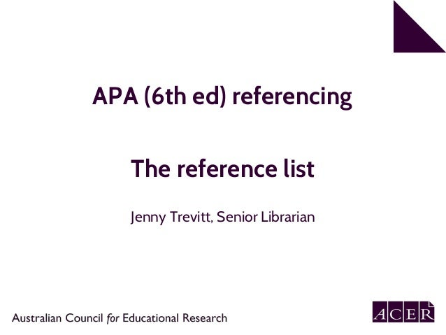 apa 6 referencing word document