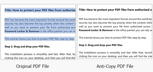 copy format from protected pdf document