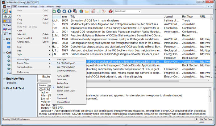 how to edit reference type endonote in word document