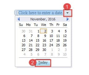 insert tick box into a word document