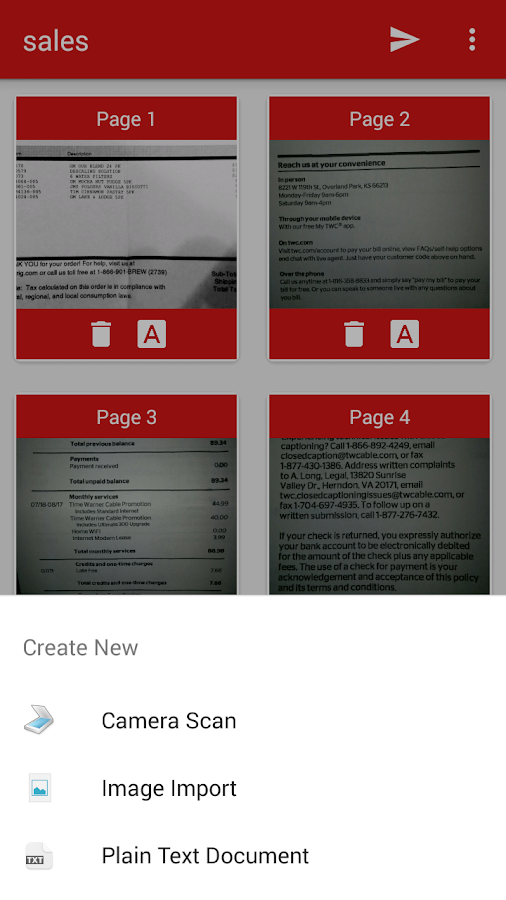 how to scan a document and convert to pdf