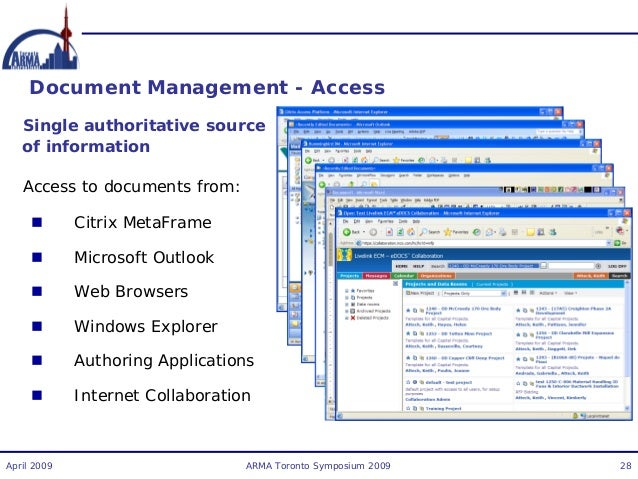 electronic document management system project