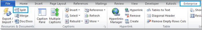 split word document into multiple documents vba