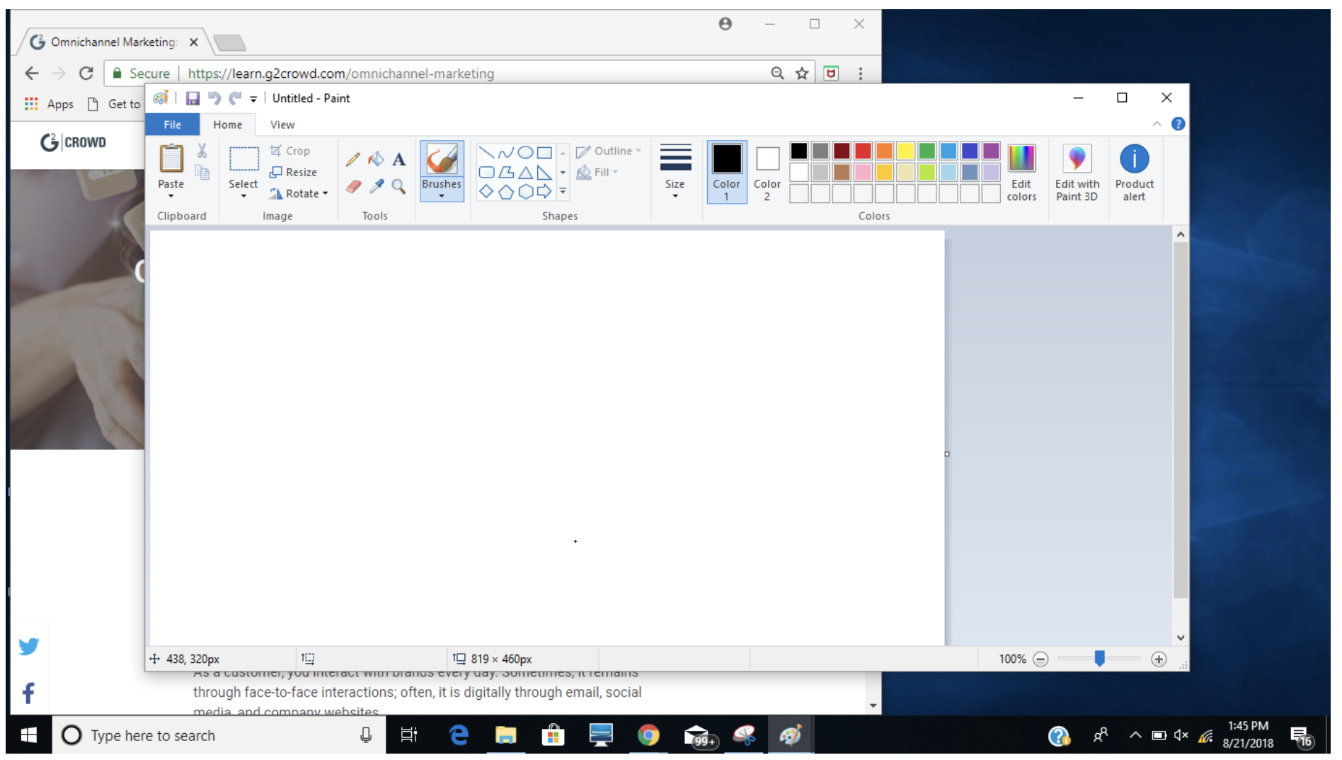 mspaint unable to create new document