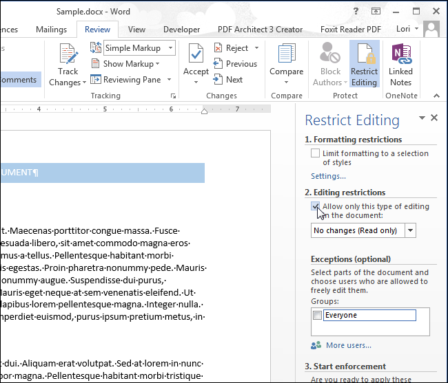 how to edit a read only document