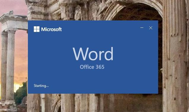 word 2016 open blank document by default