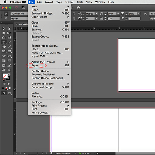 how can i check my indesign document size