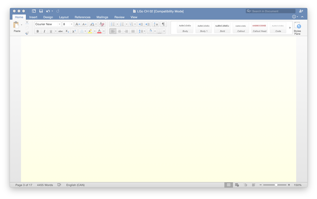 words keep disappearing on word document