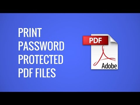 how to print password protected document