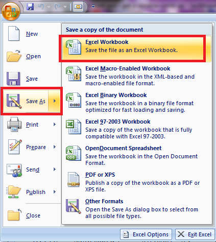 excel 2007 open new window for each document