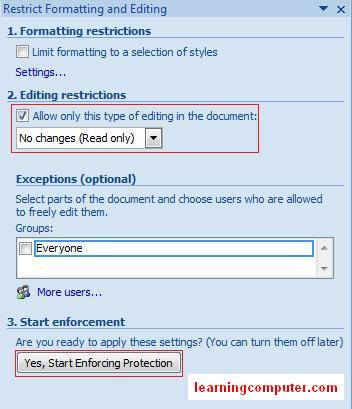 how to review a word document 2007