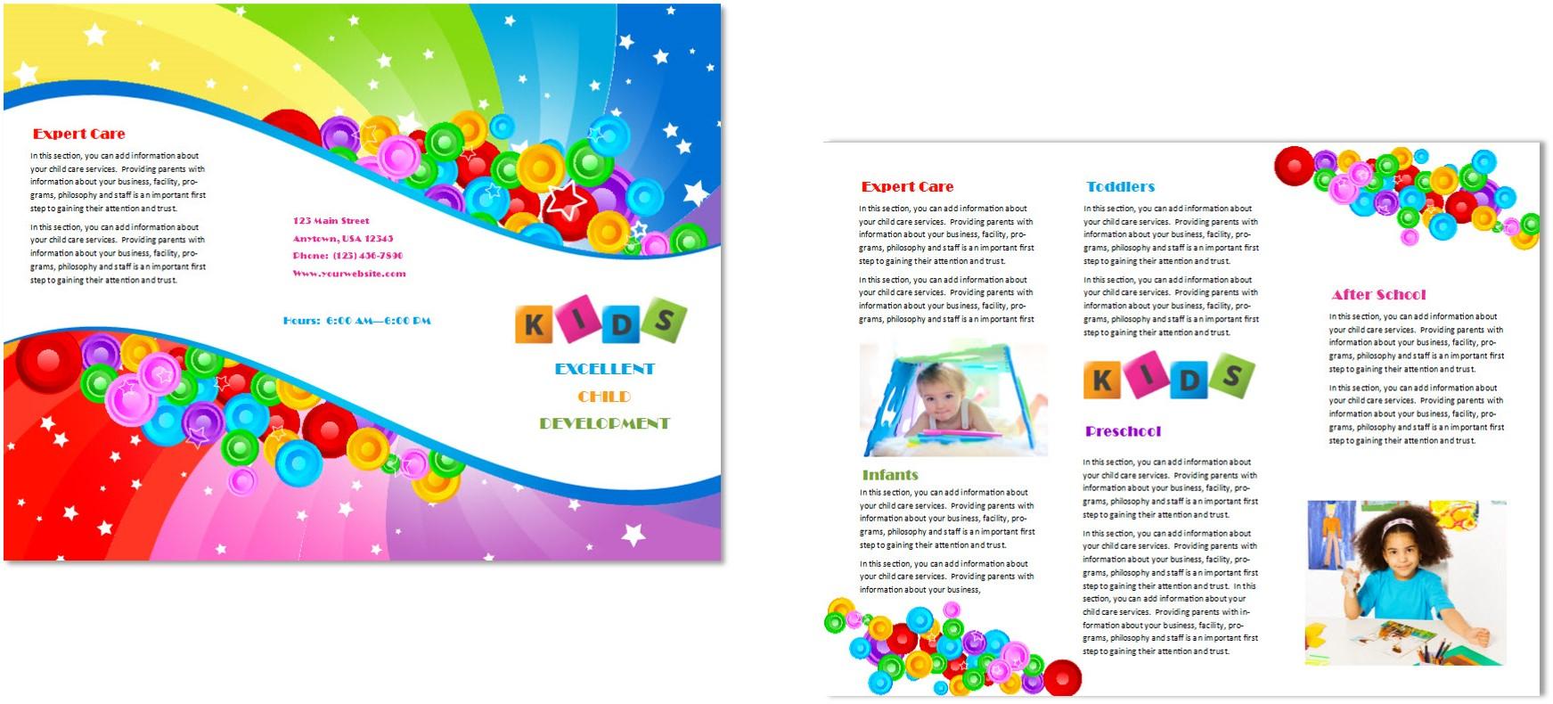 child care documentation templates