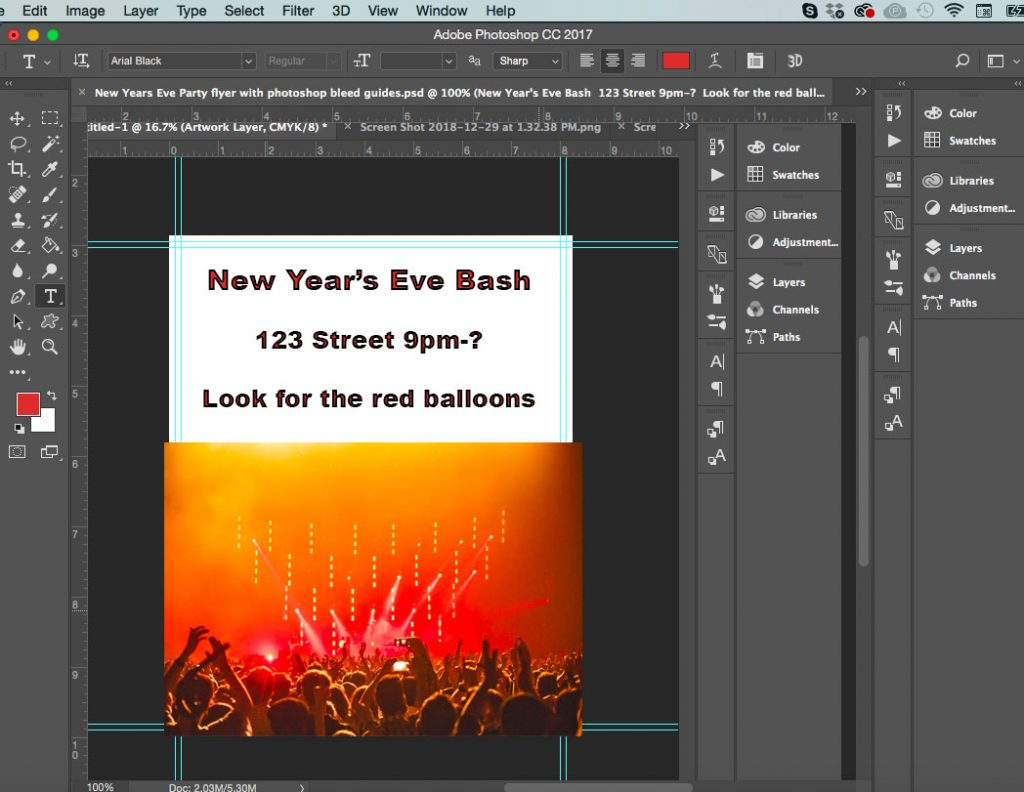 add crop marks to photoshop document