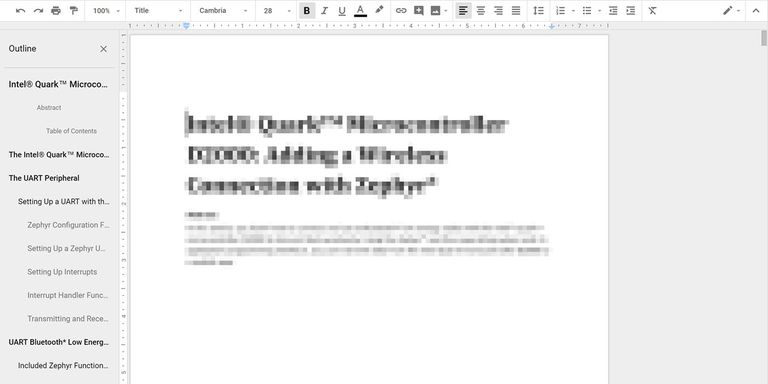 add titles to document outline google docs