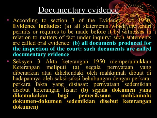 evidence act document include video