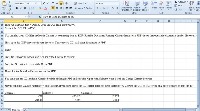 convert word document into excel format