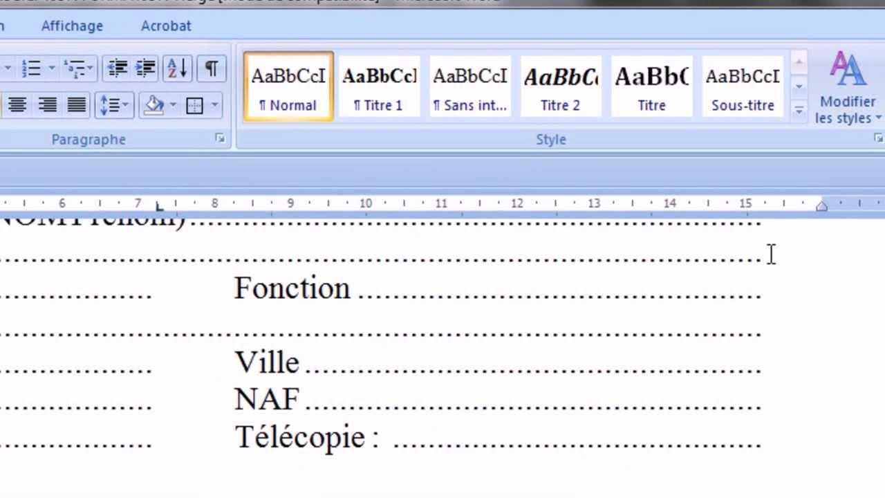 comment desactiver les liens hypertextes dans un document word
