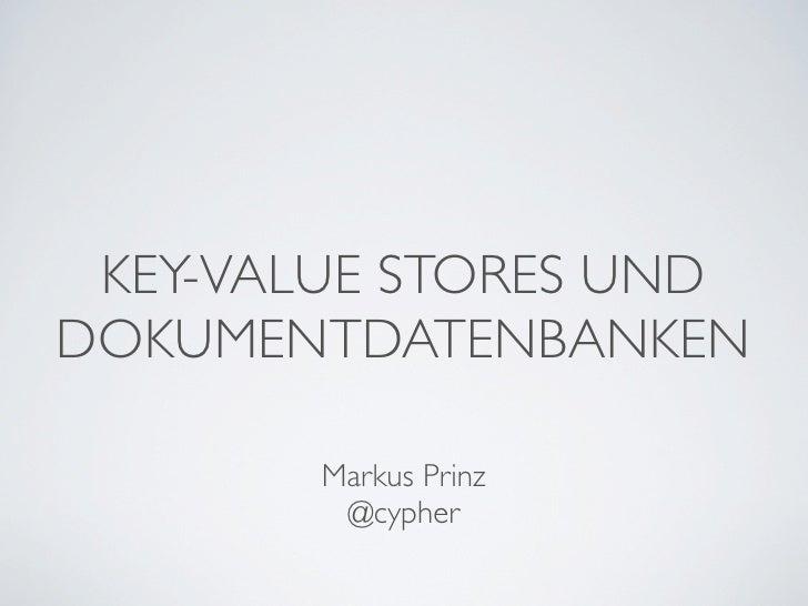 key value store vs document store