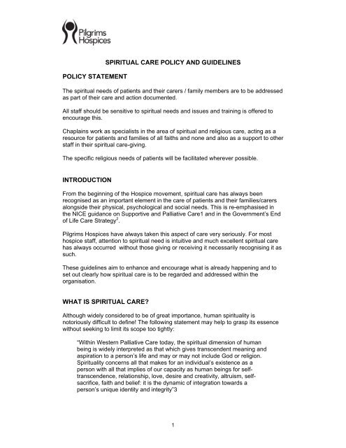 policies on documentation guidelines