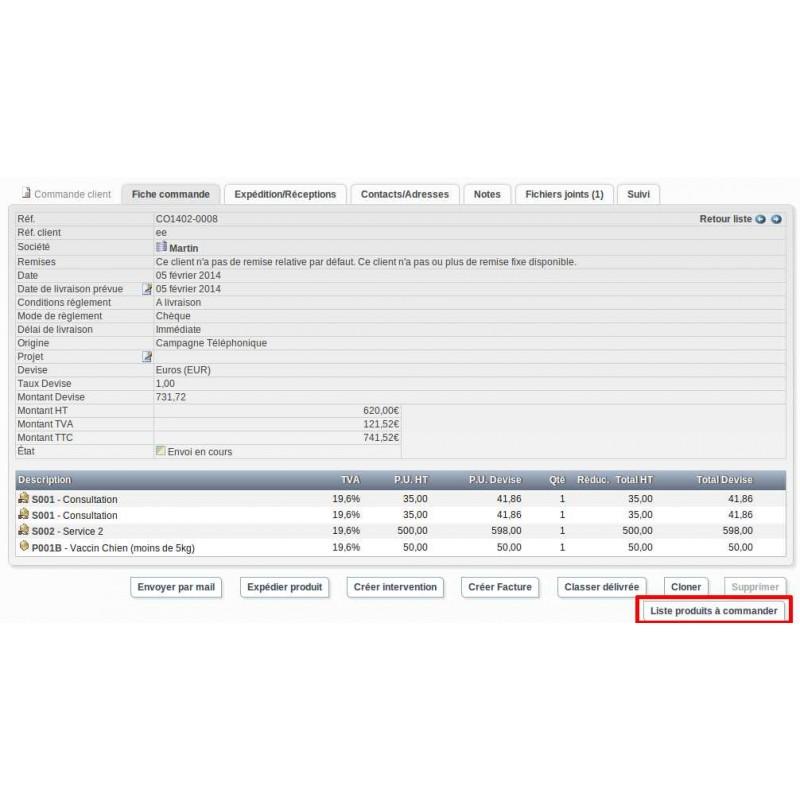 dolibarr supplier order document model