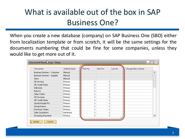 sap business one document instances