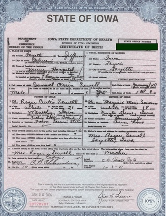document number on qld birth certificate