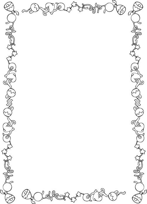 holly border for word document