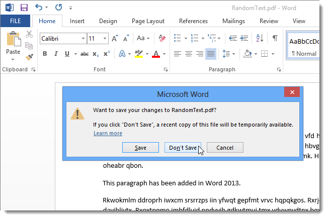 how to change a word document into a pdf file