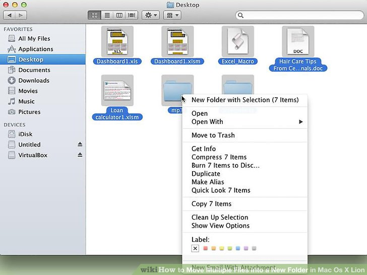 how to move a document into a folder on mac