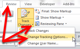 how to remove track changes from word document