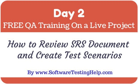 how to write srs document for project