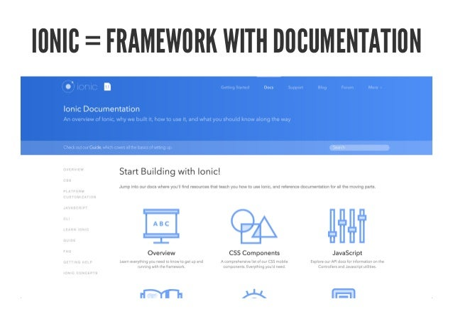 ionic framework documentation pdf