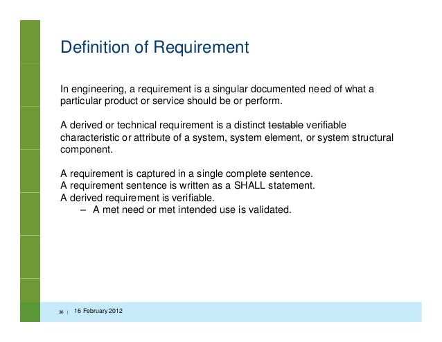 medical device customer requirements document