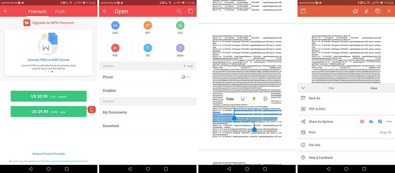 microsoft word document reader for android