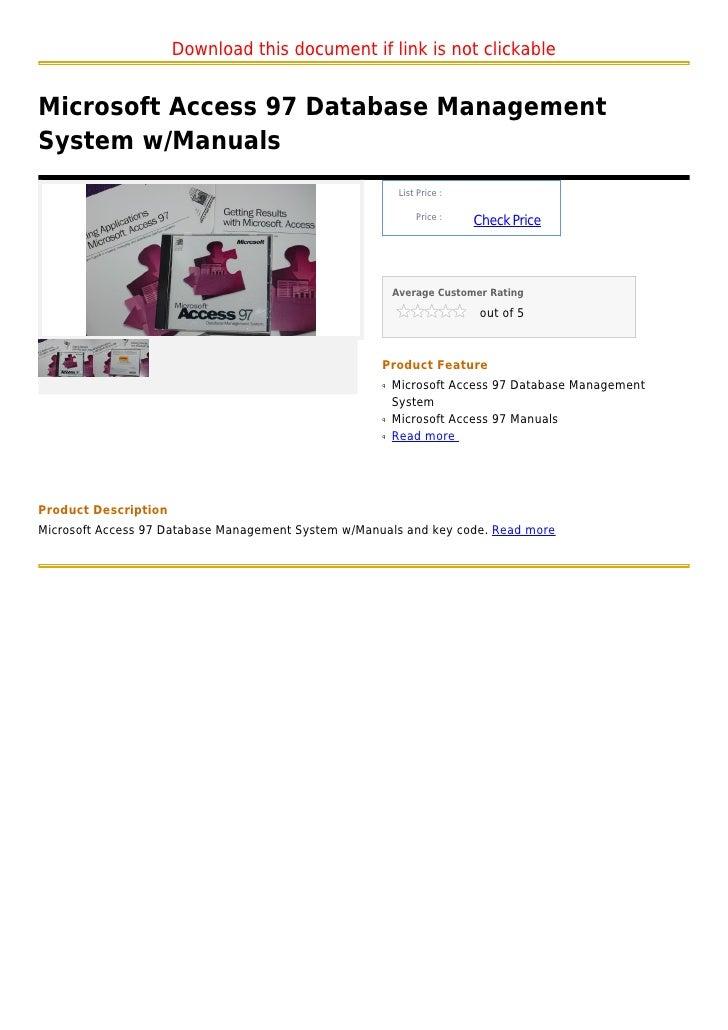 ms access document management system