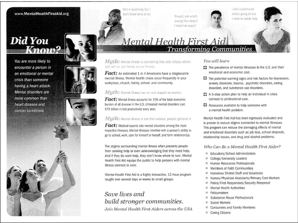 primary sources of the documentation of mental illness