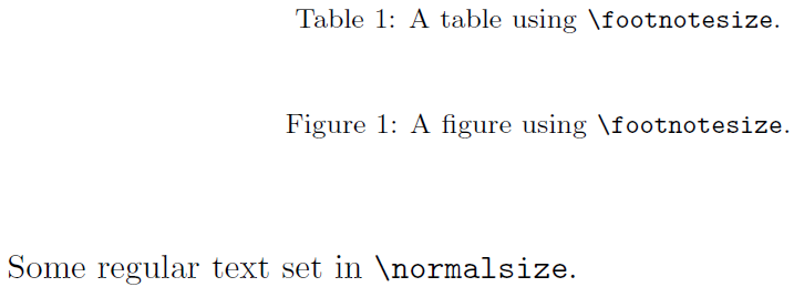 set font size for document latex