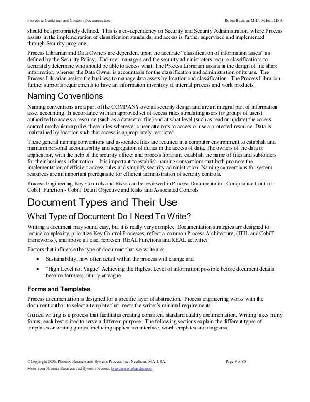 sox control documentation requirements