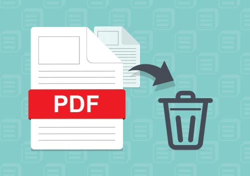 supprimer une page de document pdf