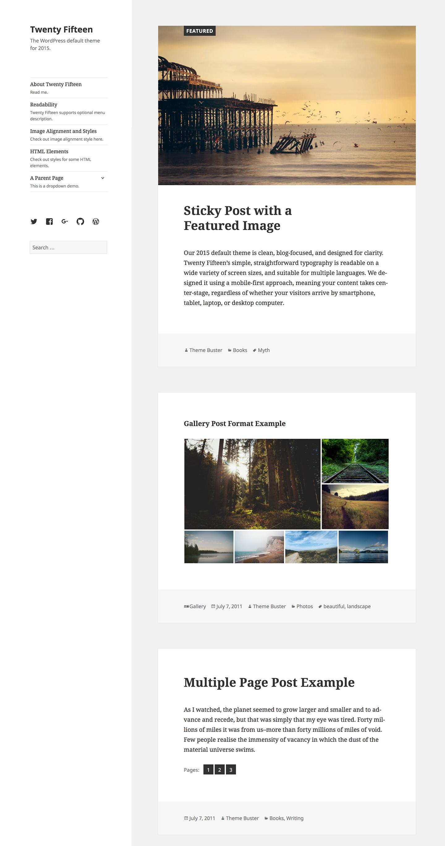 twenty fourteen wordpress theme documentation