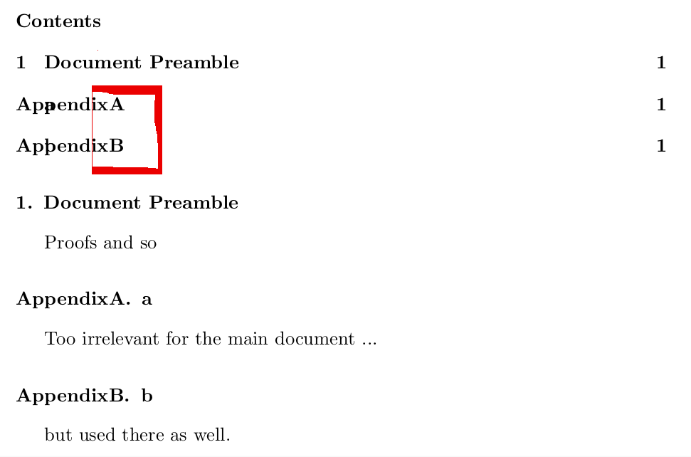 two table of contents in one document
