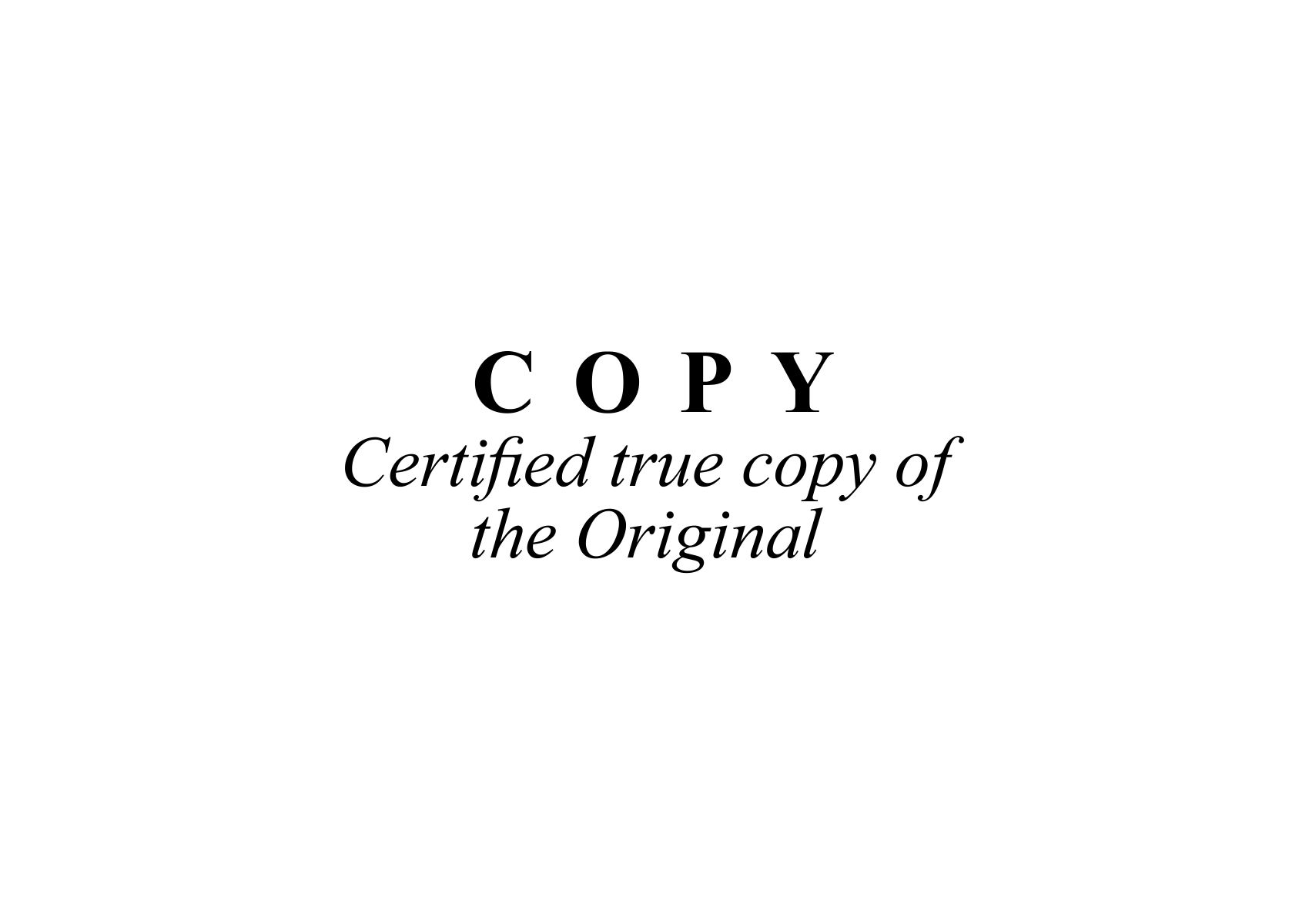 what is a certified copy of a document nsw
