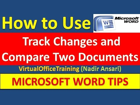 word document contains tracked changes